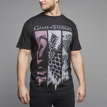Replika printed t-shirt 'Games of Thrones', zwart