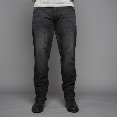 Replika jeans m. stretch RINGO L34, black used wash