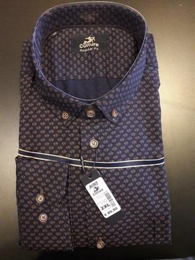 Culture blouse lange mouw DUBLIN, paars/blauw