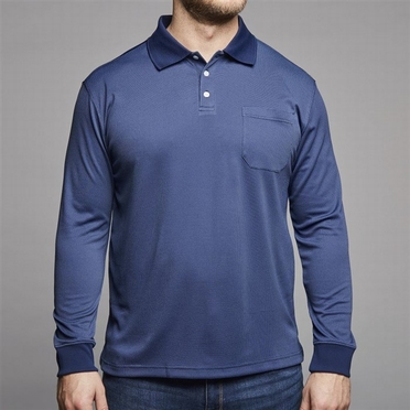North 56°4 polo lange mouw Cool Effect, navy