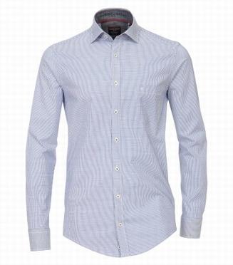 Casa Moda Casual Fit overhemd LM stretch, blauw streep