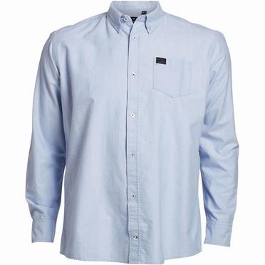 Replika Oxford shirt lange mouw, l. blue