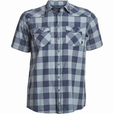 North 56°4 shirt KM geblokt, navy