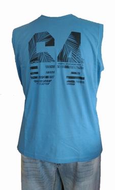 Ahorn Tanktop 'Palm 64', blauw