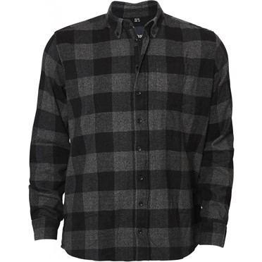 North 56°4 Flanel overhemd met rits, geblokt