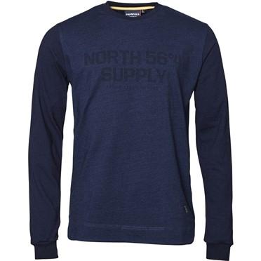North 56°4 Sweater North Supply, indigo blauw