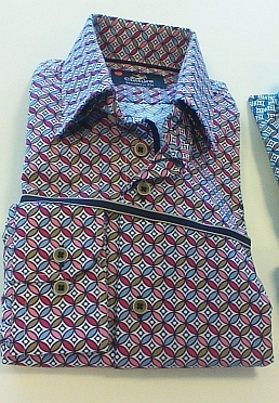 Culture blouse lange mouw ATLANTA, roze/blauw