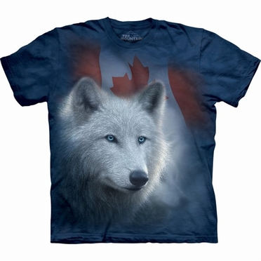 T-shirt Canadian White Wolf