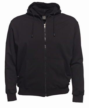 Ahorn sportief vest met capuchon, zwart