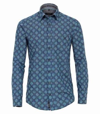 Casa Moda blouse Casual Fit KENT, blauwe bollen