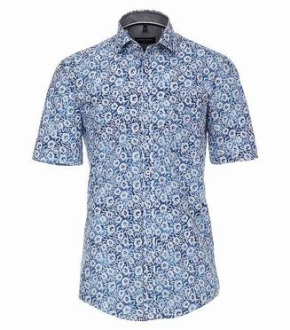 Casa Moda Kent overhemd KM Casual Fit, wit kant