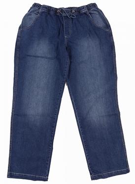 Jogging jeans m. stretch + elastisch boord, stonewash