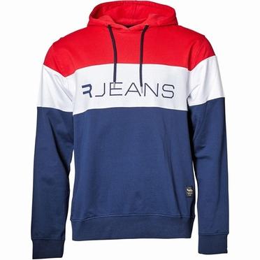 Replika Jeans Hoody sweater RJEANS, rood-wit-blauw
