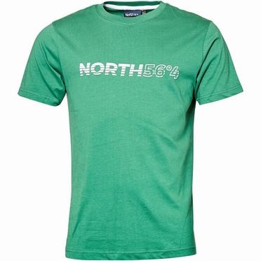 North 56°4 T-shirt m. North 56°4 print, groen