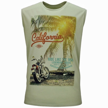 Kitaro tanktop 'California', tea green