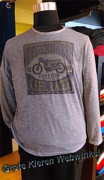 Kitaro t-shirt lange mouw 'Legendary',  grijs melée