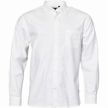 North 56°4 Oxford shirt lange mouw, wit