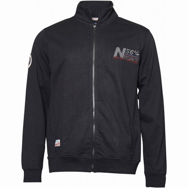 North 56°4 Casual vest met rits, zwart