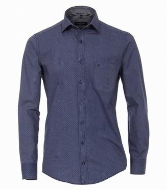 Casa Moda Casual Fit overhemd LM, navy printje