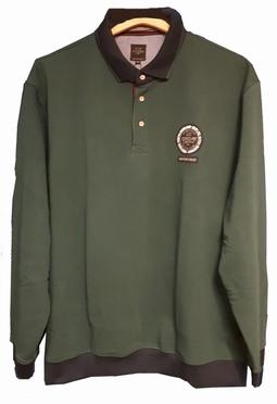 Kitaro Polo sweater LM Northern Isles, mosgroen