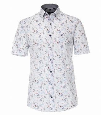 Casa Moda Kent overhemd KM Comfort Fit, wit m. bootje