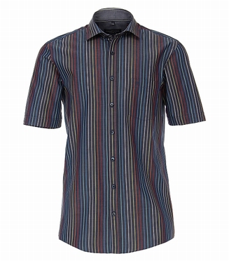 Casa Moda Kent overhemd KM Comfort Fit, streep/d.grijs
