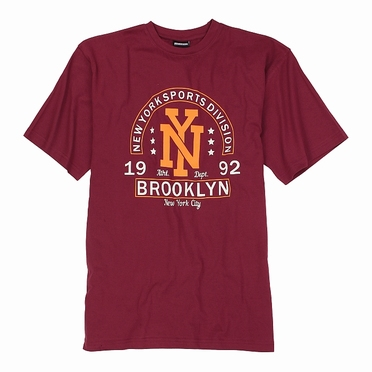 Adamo T-shirt BROOKLYN, wijnrood