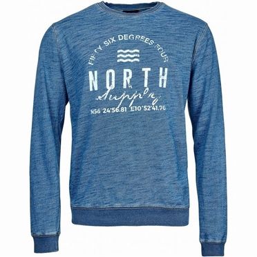 North 56°4 Crew Neck Sweat North Supply, indigo blauw