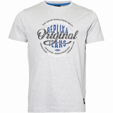 Replika T-shirt 'Original Jeans', grijs melée