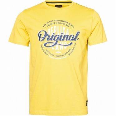 Replika T-shirt 'Original Jeans', geel