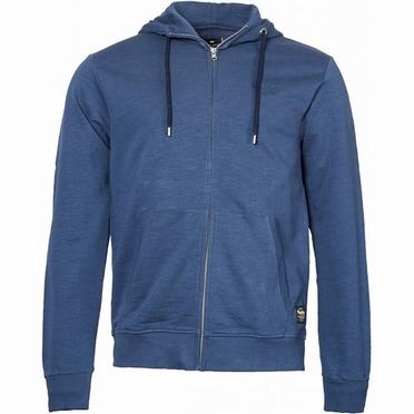 Replika Hooded vest met rits, navy blauw