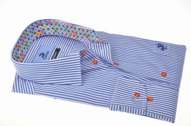Culture overhemd LM MONTREAL, blauw streepje