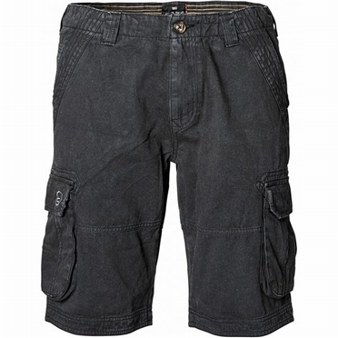 Replika cargo shorts, zwart