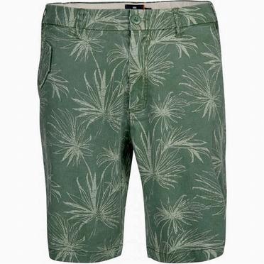 Replika shorts flower print, olijfgroen