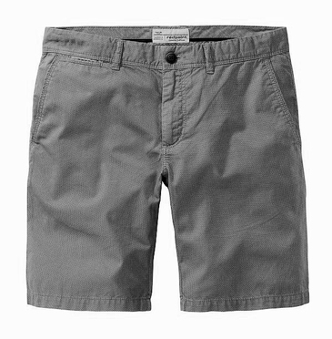 Redpoint shorts chino model, grijs