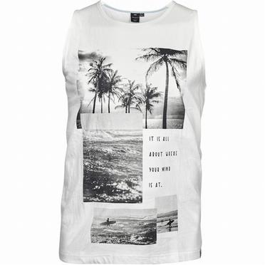 Replika tanktop Beach fotoprint, wit