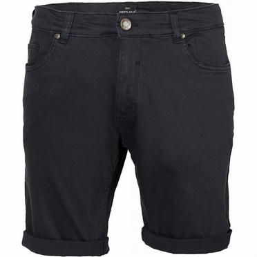 Replika 5-pocket shorts met stretch, zwart