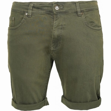 Replika 5-pocket shorts met stretch, olijfgroen