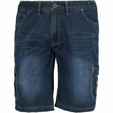 Replika denim shorts m. stretch + elast. boord, denim