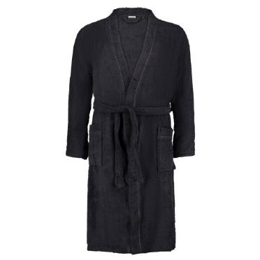 Kwaliteits badstof badjas, zwart