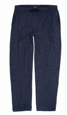 LEON lange pyjama broek, navy gemelleerd