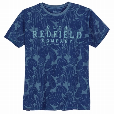 Redfield t-shirt 'REDFIELD', allover print blauw