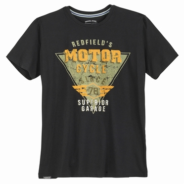 Redfield t-shirt 'Motor Cycle', zwart