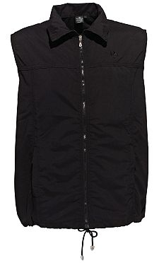 Fitness mouwloos vest microvezel, zwart
