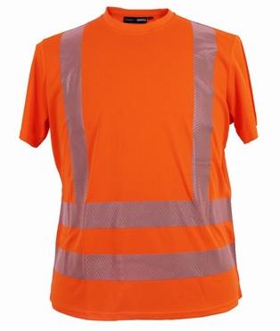 Veiligheids sport t-shirt, fluo oranje
