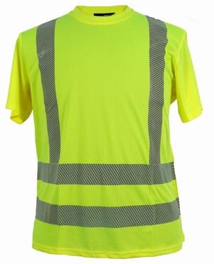 Veiligheids sport t-shirt, fluo geel