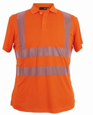 Veiligheids poloshirt, fluo oranje