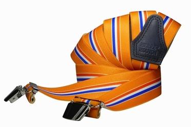 Bretels in Y-vorm oranje met nederlandse vlag
