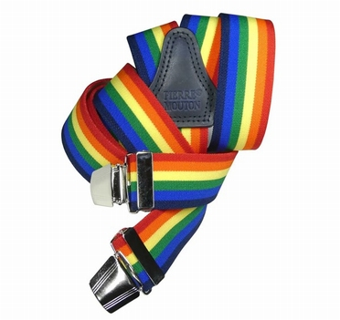 Bretels in Y-vorm met regenboog kleuren