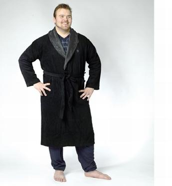 Chique badjas, zwart